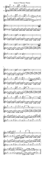 Google v theme song - Game Of Thrones Theme Song Music Sheet Flute