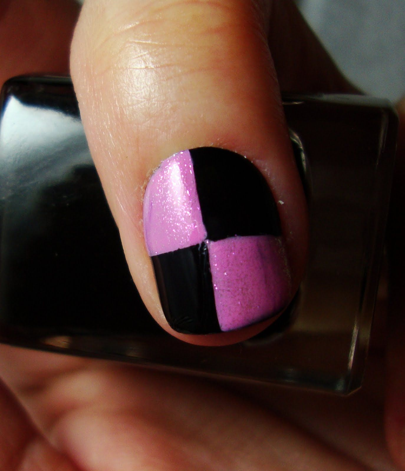 Got this amazing idea on YouTube, Sellotape nail art!  Might try it out