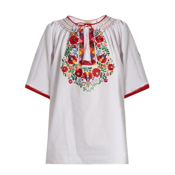 Discount New Styles From China Online Eva embroidered cotton top Muzungu Sisters sgjUGf0x