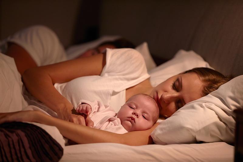Kind Schläft Im Elternbett