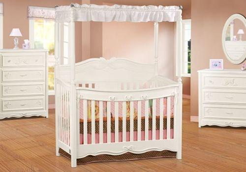 OMG WANT!!! Disney Princess Enchanted 4-in-1 Crib White