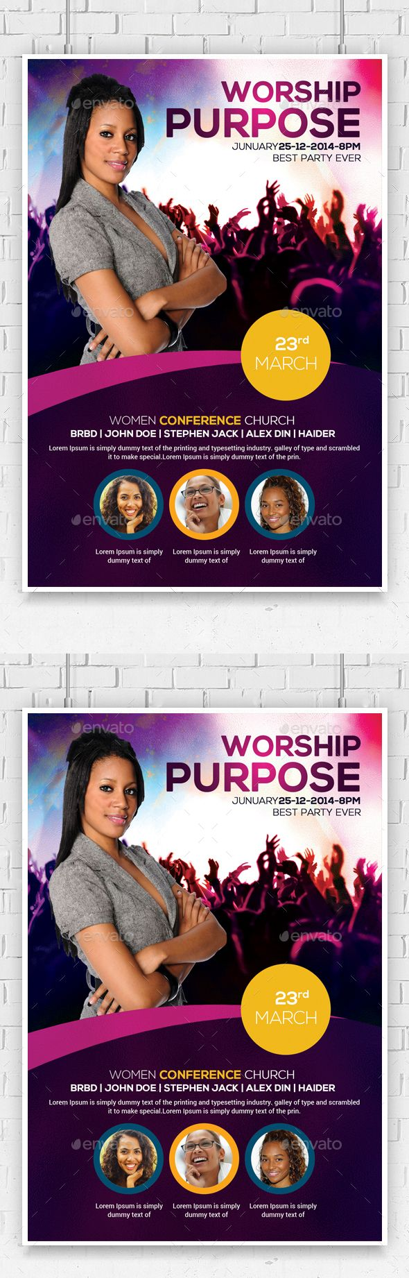 women conference flyer template flyer template template and woman