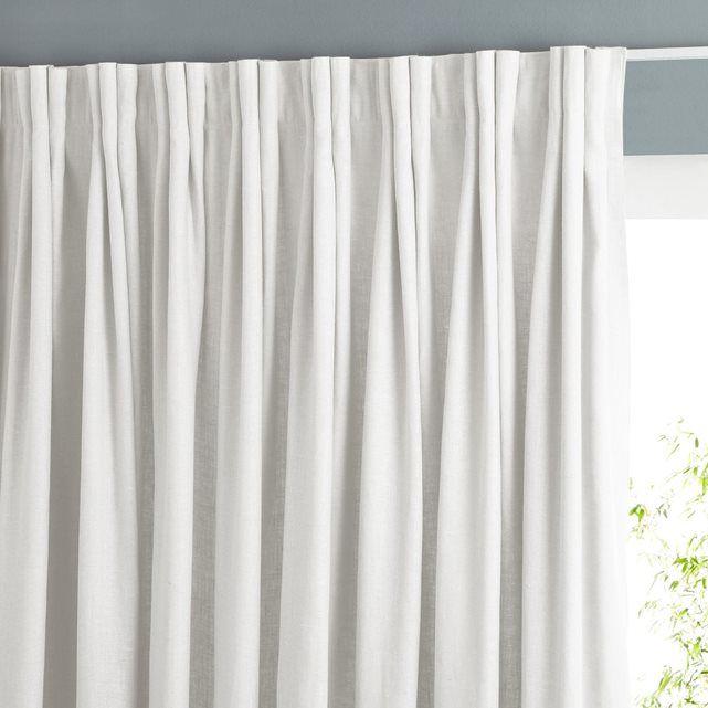 Rideau doubl pur lin plis flamands colin voilages - Tissus pour double rideaux ...