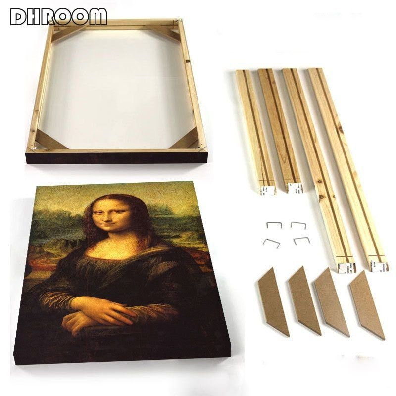 Natural Wood Frame For Canvas Oil Painting Diy Picture Wall Poster Photo Frame Painting Large Size Frame Custom Wood Frames Wood Poster Frames Diy Poster Frame