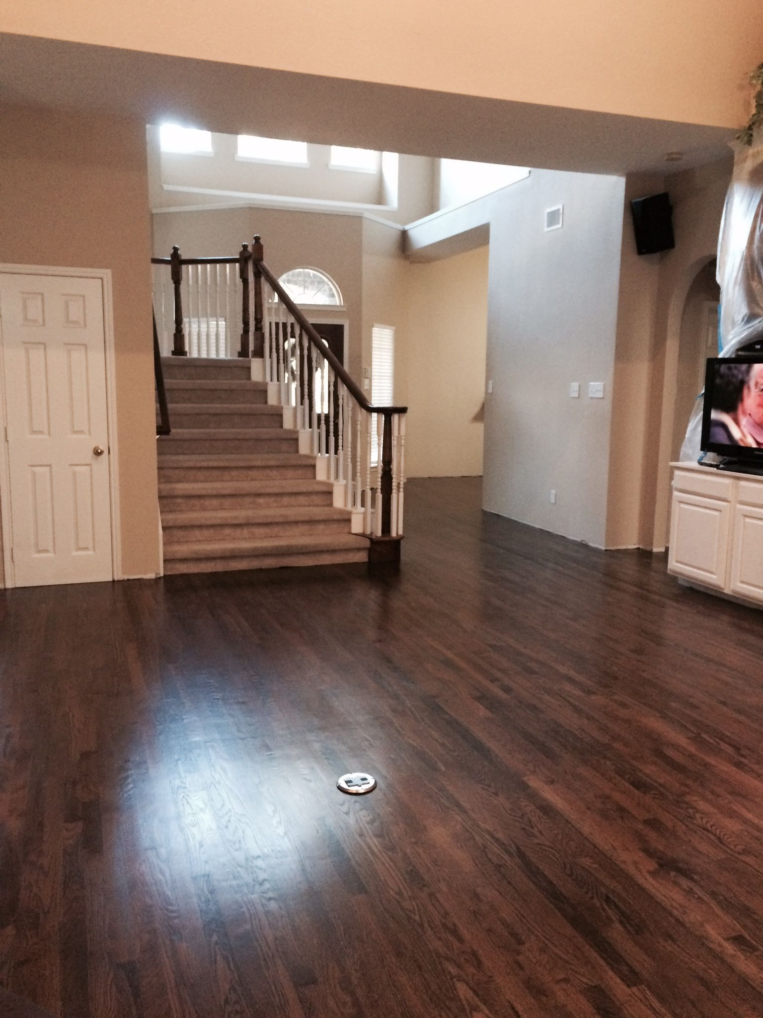 dark walnut stain on white oak hardwood Hardwood floor
