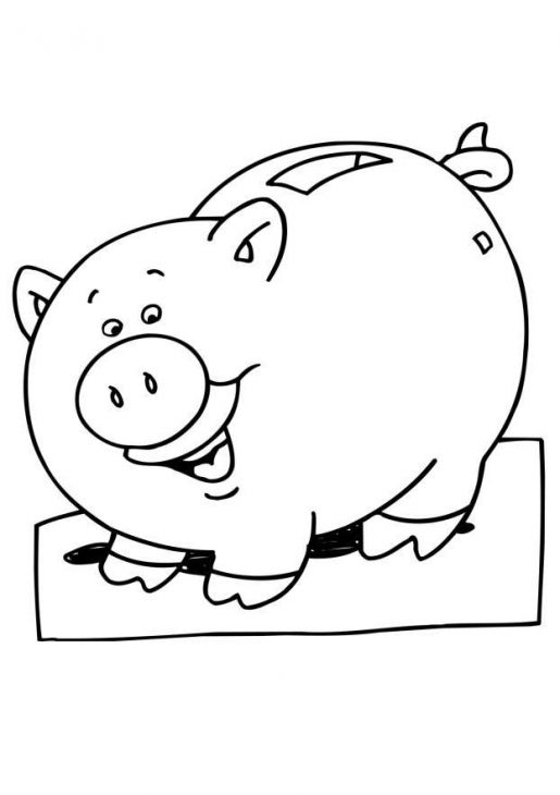Piggy Bank Coloring Page For Children Online Letscolorit Com Cool Coloring Pages Coloring Pages Disney Tattoos