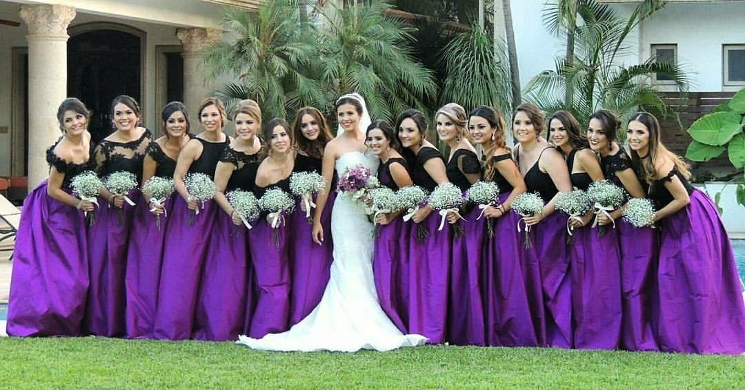 Lujoso Invierno Vestidos De Dama De Honor Azul Ideas Ornamento ...