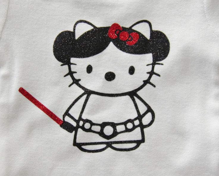 Sparkly Hello Kitty Princess Leia Star Wars tee .. $17.00, via ...