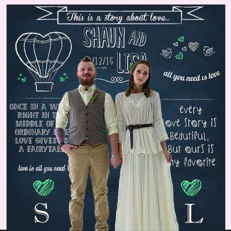 11 Custom Wedding Photo Booth Backdrop Ideas