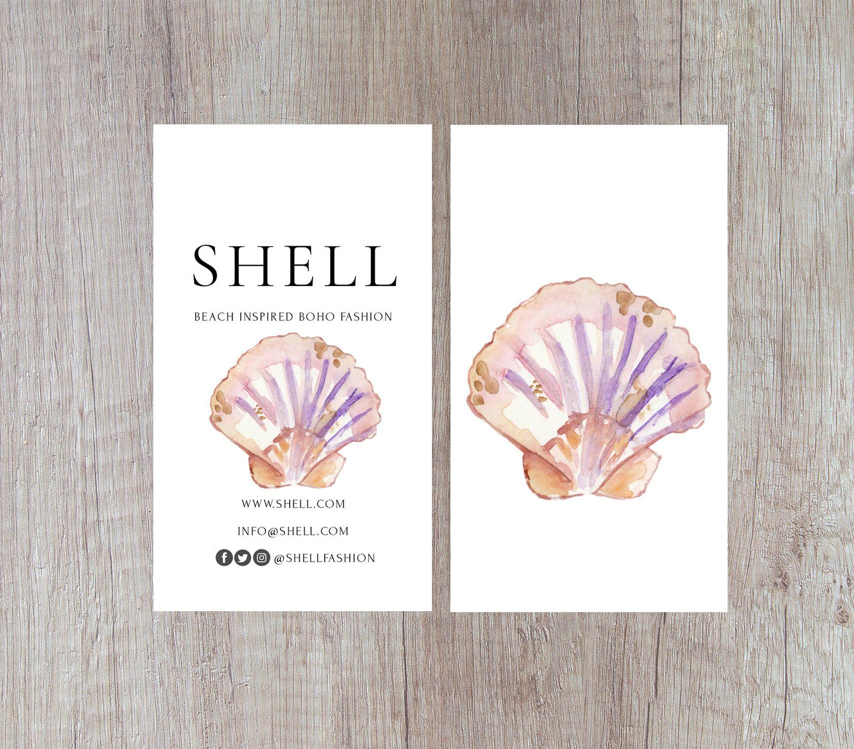 Shell business card shell design sea business card beach business shell business card shell design sea business card beach business card ocean business card business card template card design colourmoves