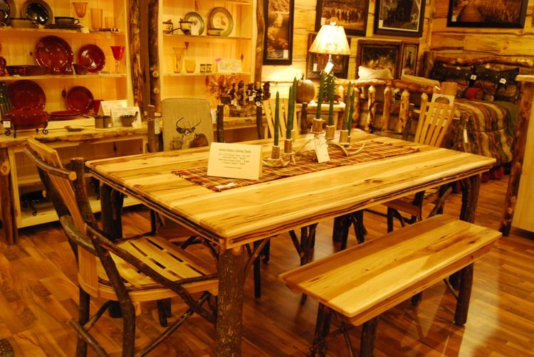 "Amishmade Hickory 72"" Dining Room Tablecabin Creations In Mesmerizing Hickory Dining Room Sets Inspiration"