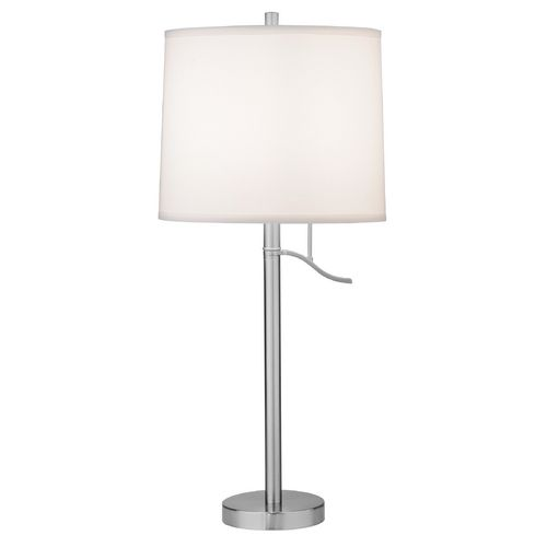 Satin nickel table lamp shade not included at destination lighting