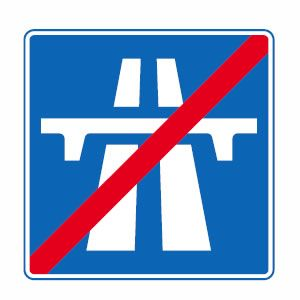 End Of Motorway Road Signs Hospital Signs Traffic Signs