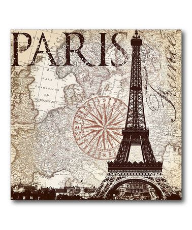 Take A Look At This Vintage Paris Canvas Wall Art By Courtside Market On Zulily Today Laminas Vintage Para Imprimir Laminas Vintage Laminas Para Decoupage