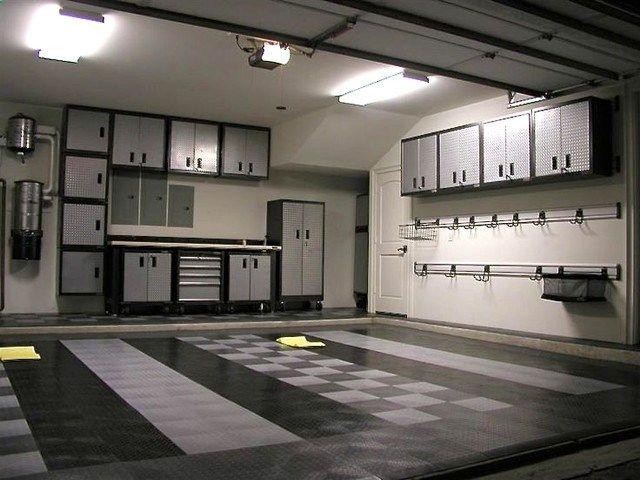 Racedeck Garage And Shed With Floor Tiles Garage Cabinets Garage
