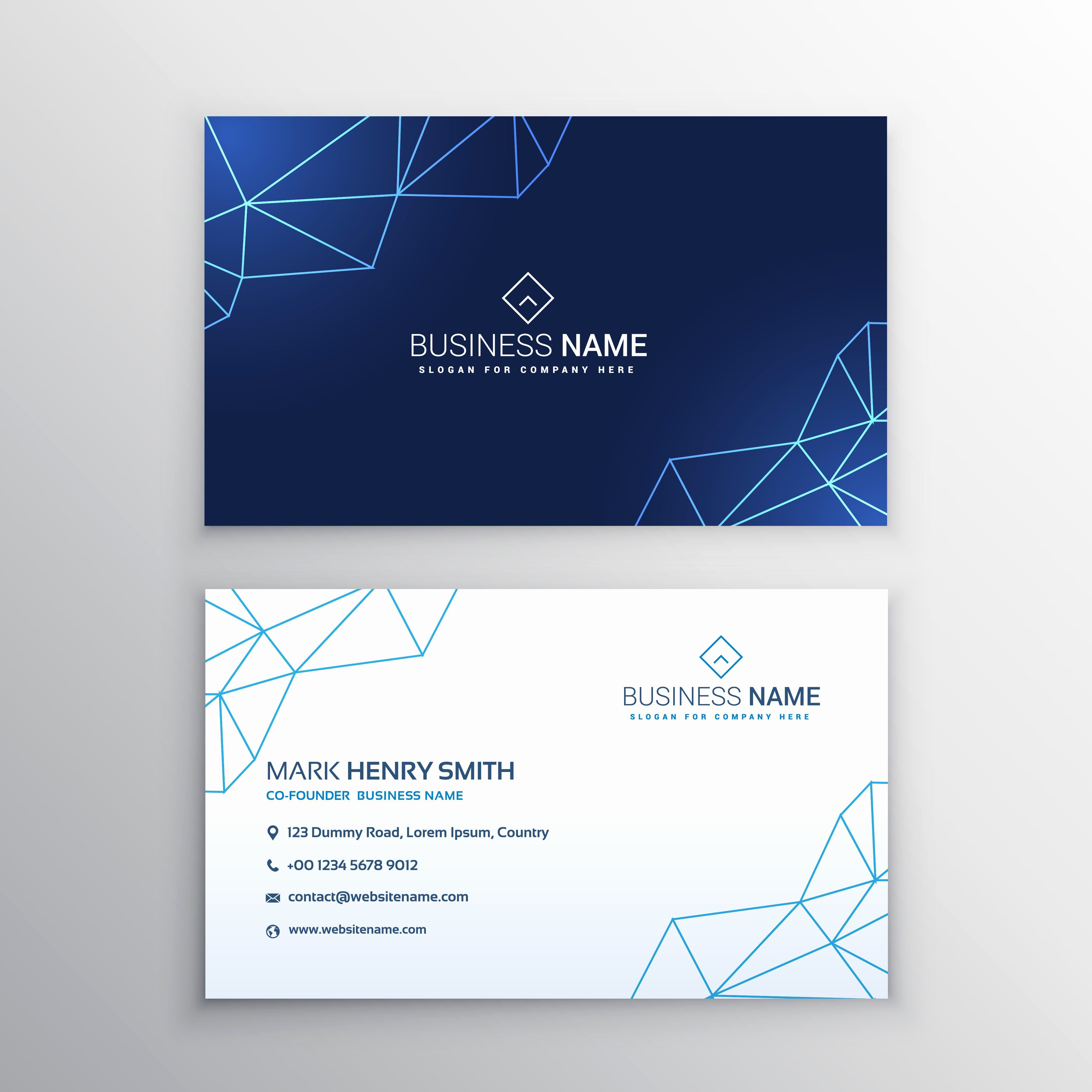 Business Card Template Vector Fresh Technology Business Card Design Template Downlo Design Business Card Ideas Download Business Card Business Card Inspiration