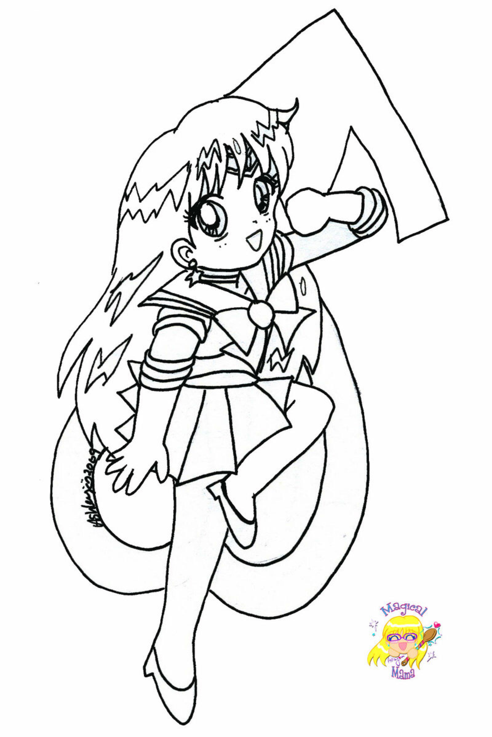 Chibi Sailor Mars Coloring Page By Magical Mama On Deviantart