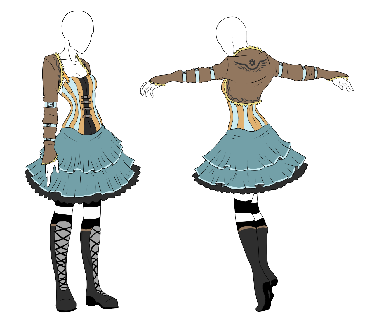 Outfit Adopt - Steampunk Alice - SOLD by ShadowInkAdopts.deviantart.com on @deviantART ...