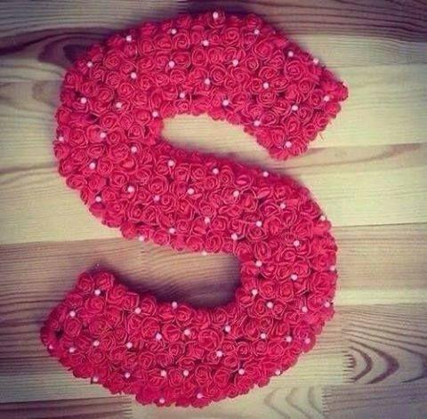 Pin By Lolo Kh On Roses Letters حروف من الورد Rangoli Designs Flower Mother Art Crochet Scarf