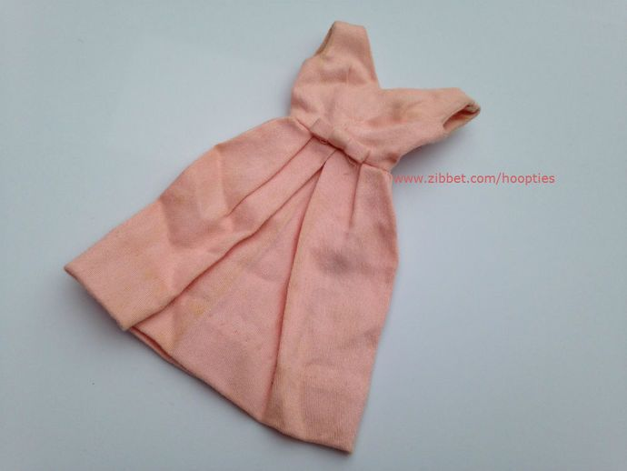 Vintage Barbie Pink Belle Dress 1962 by Hoopties, $7.00 USD