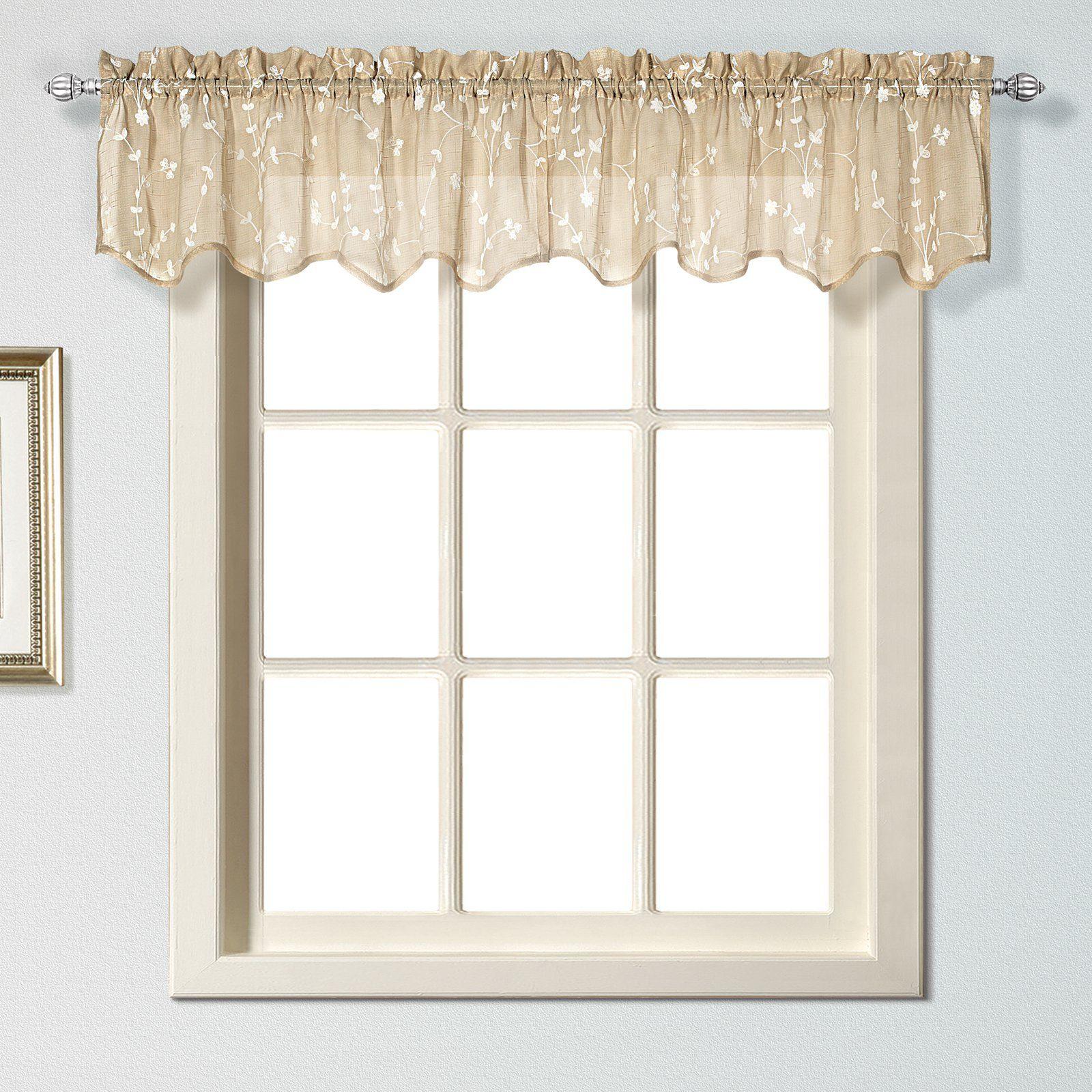 United Curtain Savannah Window Valance Valance Curtains