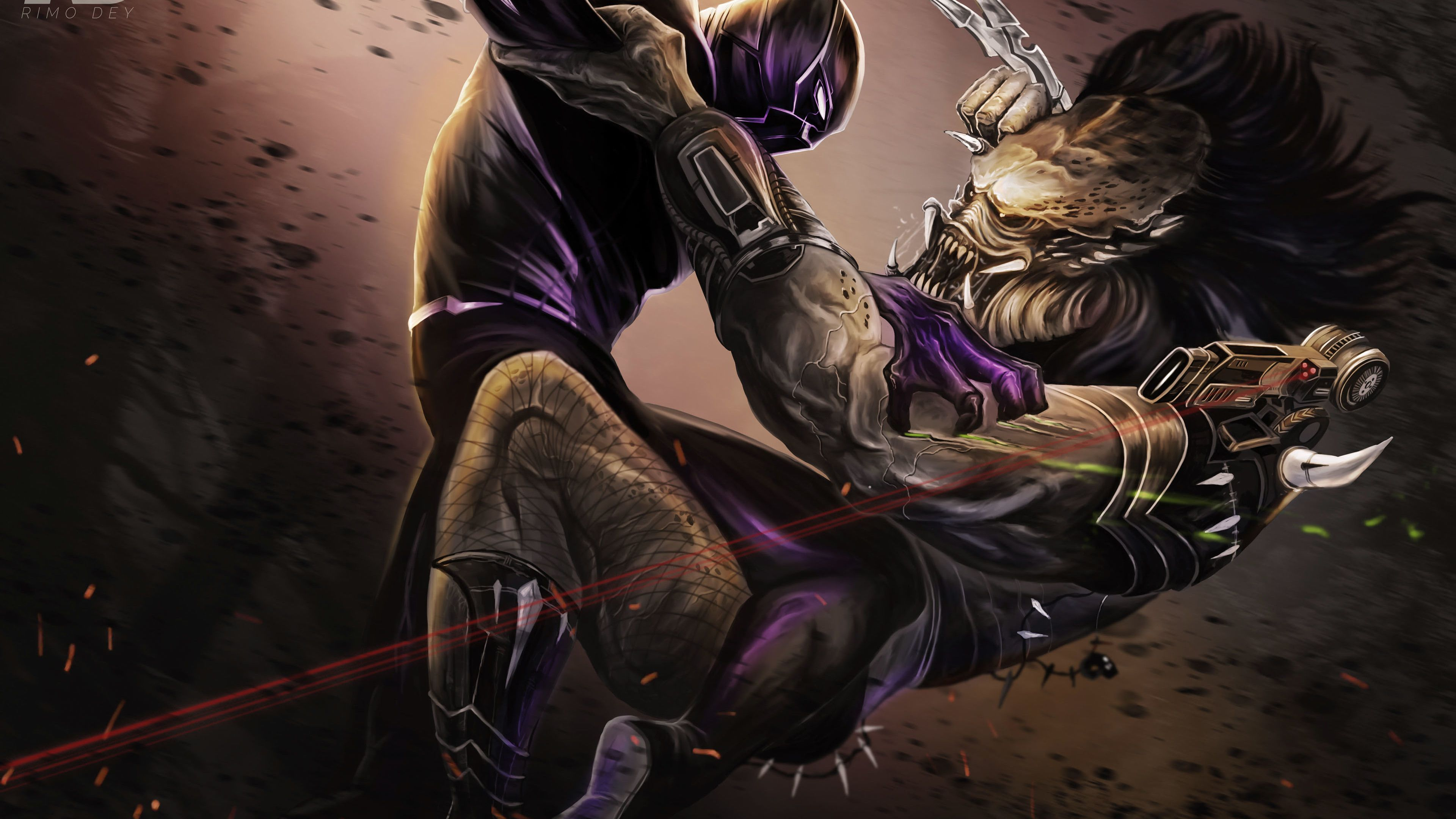 Black Panther Vs Predator Illustration 4k Superheroes Wallpapers Predator Wallpapers Hd Wallpapers Digital Art Wall Black Panther Illustration Art Wallpaper