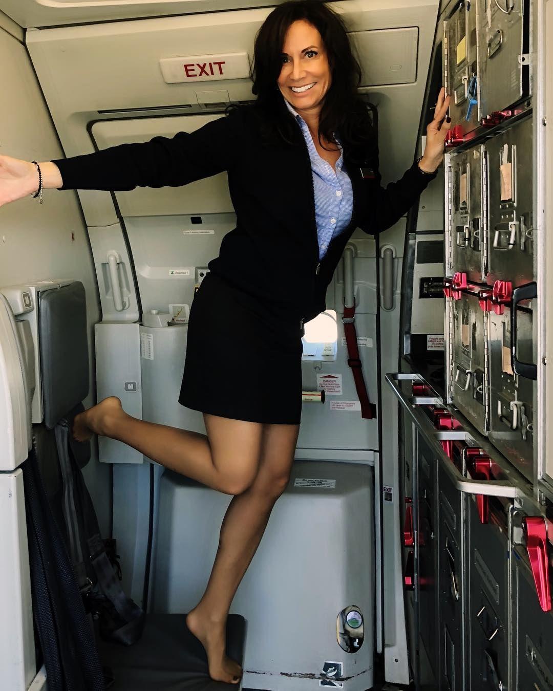 Pantyhose stewardess