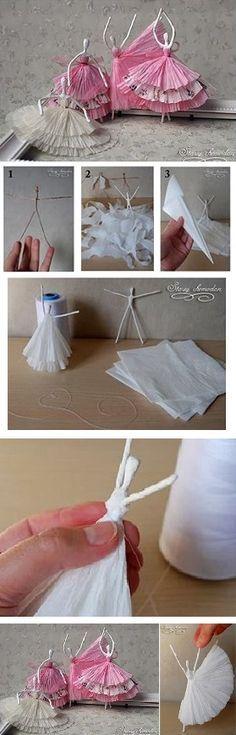 paper napkins ballerina pinterest weihnachtsdeko basteln papierlampen und geschenke selber. Black Bedroom Furniture Sets. Home Design Ideas
