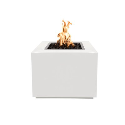 The Outdoor Plus Forma Steel Fire Pit Table Finish White Size 24 H x 30 W x 30 D Fuel Type Natural Gas Among the clean joys of cold months for many people is the warmness...