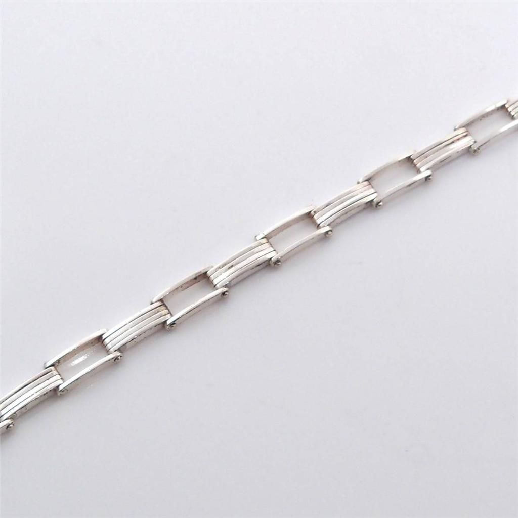 http://www.ebay.co.uk/itm/Sterling-Silver-Modernist-Bar-Link-Bracelet-6-75-/291367780713?pt=LH_DefaultDomain_0