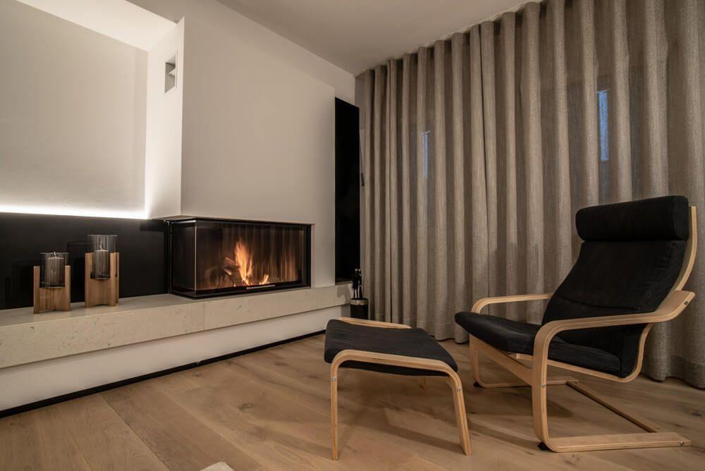soggiorno moderno con camino | Caminetti nel 2019 | Home Decor e Decor
