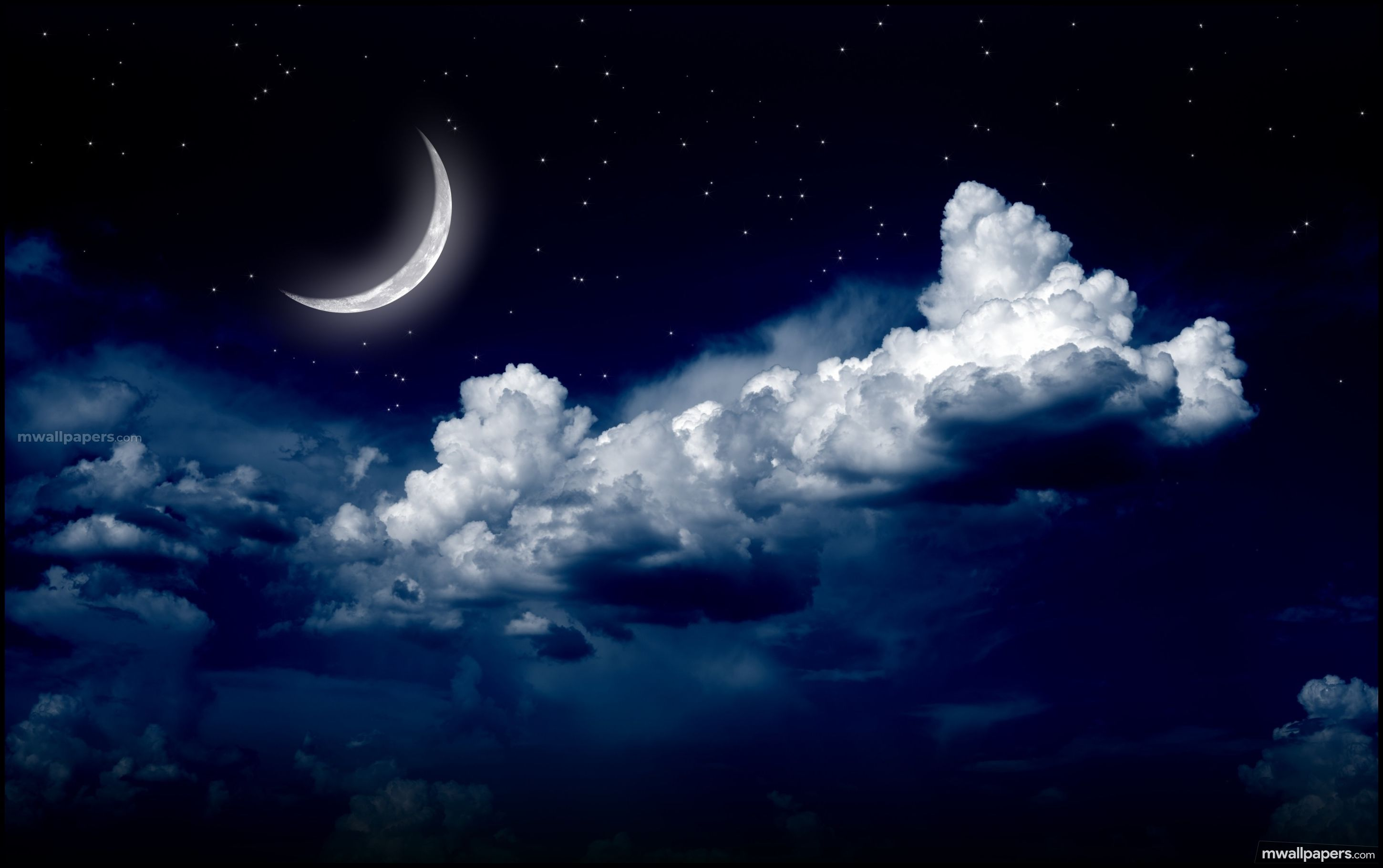 Sky Stars Hd Images 1080p 1273 Sky Stars Hdimages Wallpapers Images Moon And Stars Wallpaper Night Clouds Moon Clouds