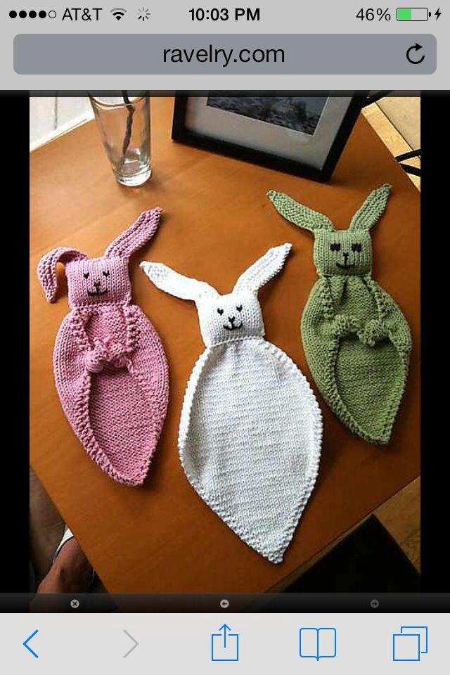Knit Bunny Lovey Pattern Httpravelrypatternslibrary