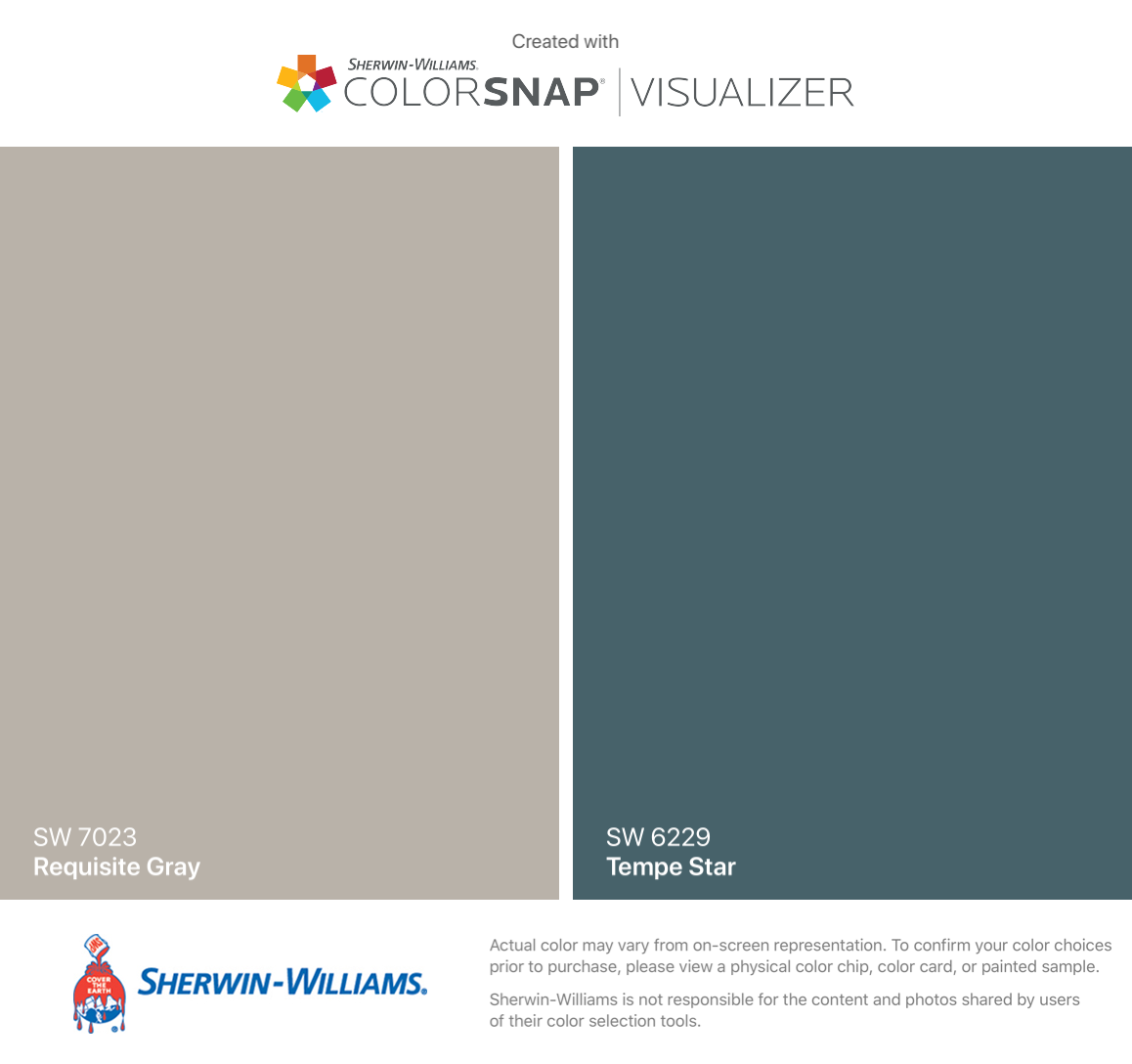 I Found These Colors With Colorsnap Visualizer For Iphone By Sherwin Williams Requisite Gray Sherwin Williams Colors Dining Room Paint Colors Magnolia Paint