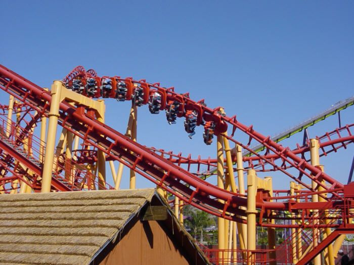 Get Your Coaster And Thrills Fix At Six Flags Six Flags America Crazy Roller Coaster Roller Coaster