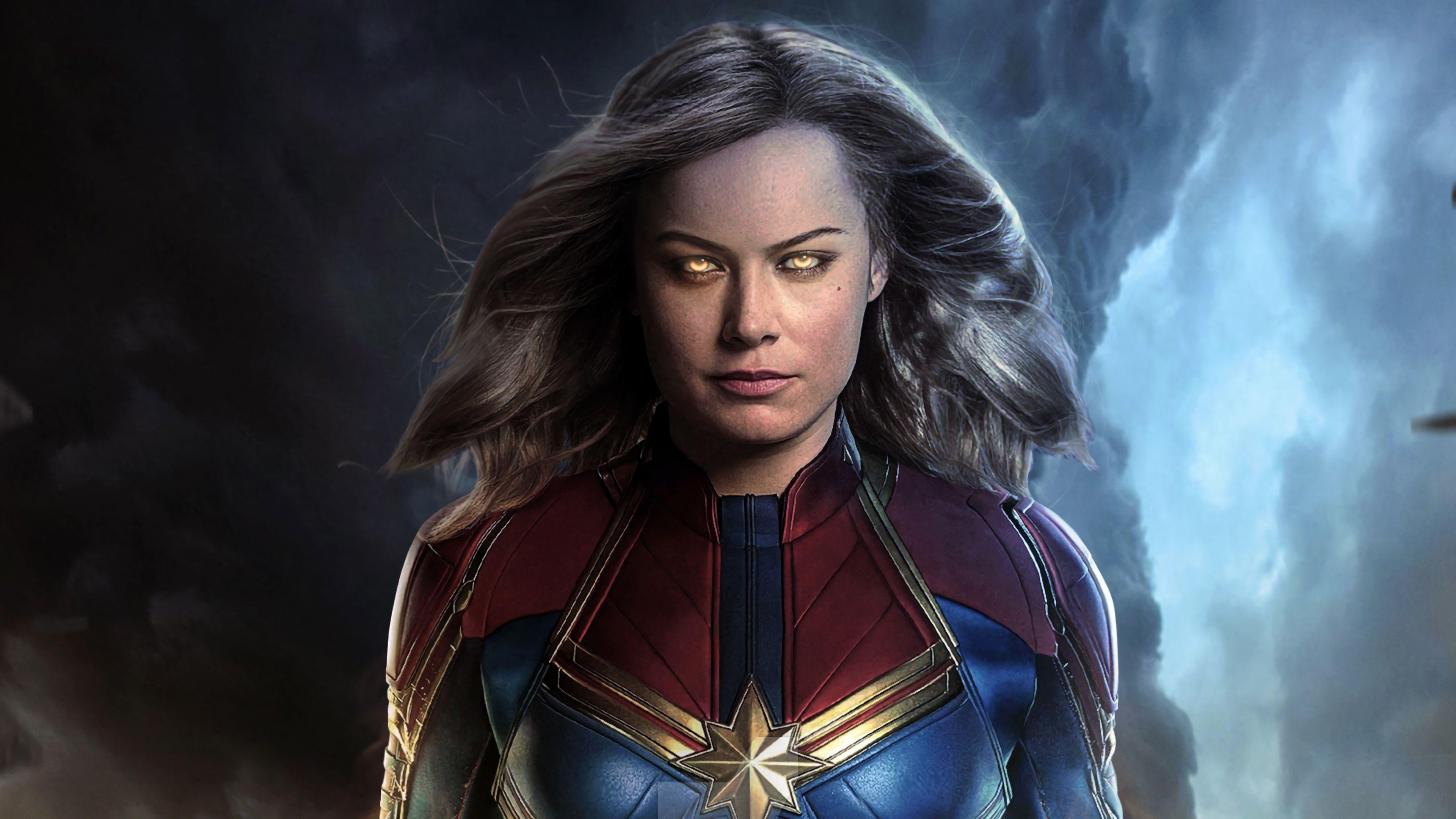 Captain Marvel Movie 2019 Brie Larson As Carol Danvers 4k Wallpaper