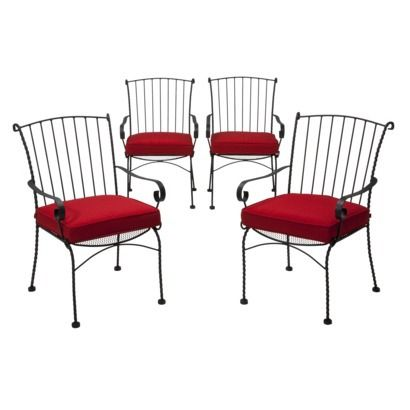 Prime Target Home Piazza 4 Piece Wrought Iron Patio Dining Chair Download Free Architecture Designs Rallybritishbridgeorg