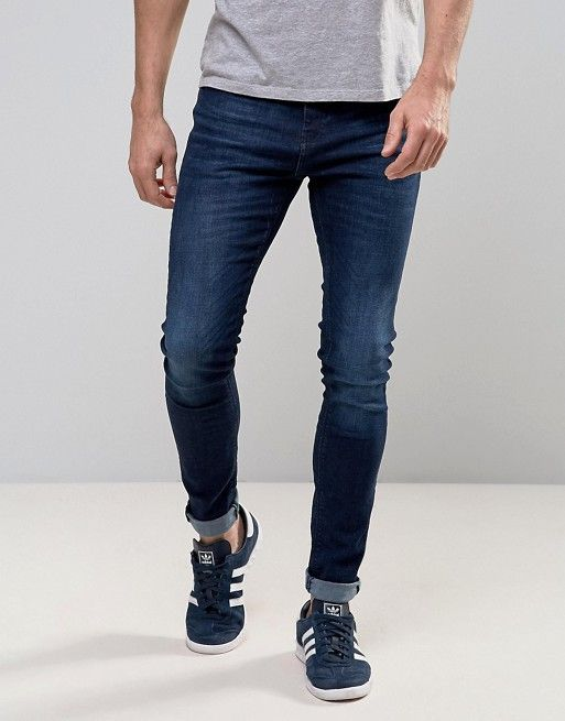 fc5bdceb Discover Fashion Online Blue Jeans Outfit Men, Blue Jean Outfits, Dark Skinny  Jeans,