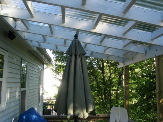 Create A Stylish Durable Yet Pocket Friendly Roof For Your Lean To Or Home Extension With Corrugated Or Flat Roofing Sheet Cheap Patio Pergola Building A Deck