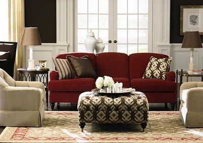 Decorating With Red Sofa Red Sofa Living Room Burgundy Living
