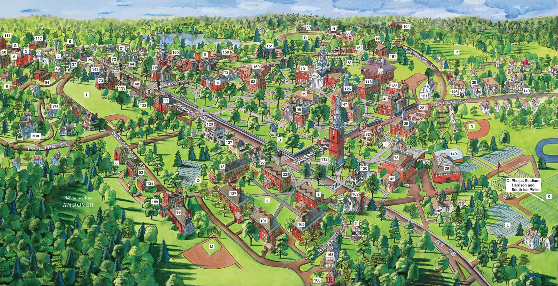 phillips exeter academy campus map Pa Map Campus Map Best Boarding Schools What Is Like phillips exeter academy campus map