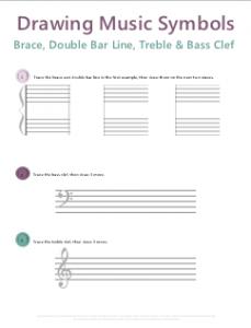 Drawing Music Symbols: Music Theory Worksheets   Jazz Activities ...