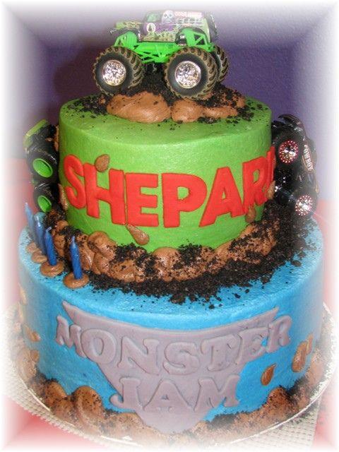 monster jam cake by oh boy baking co, via Flickr