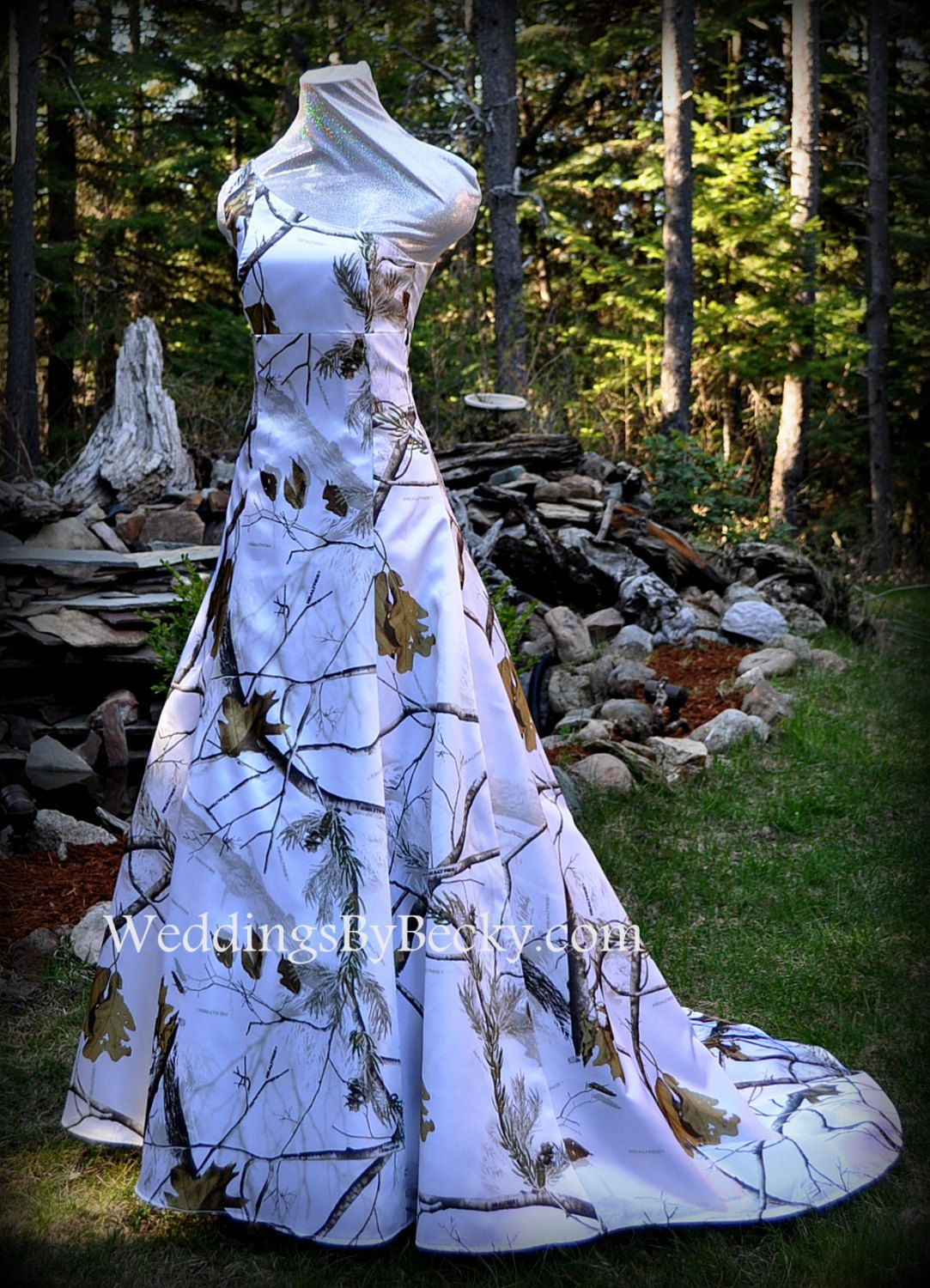 Realtree snow camo wedding dress uabigailu made only in the usa
