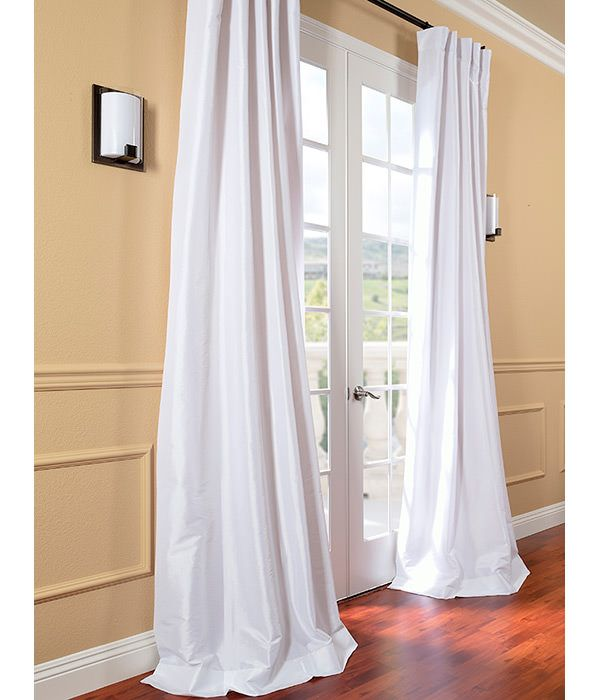 Image result for WHITE TAFFETA CURTAINS