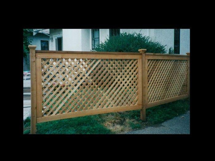 Cedar lattice panels home depot home cedar fence for Above ground pool decks home depot