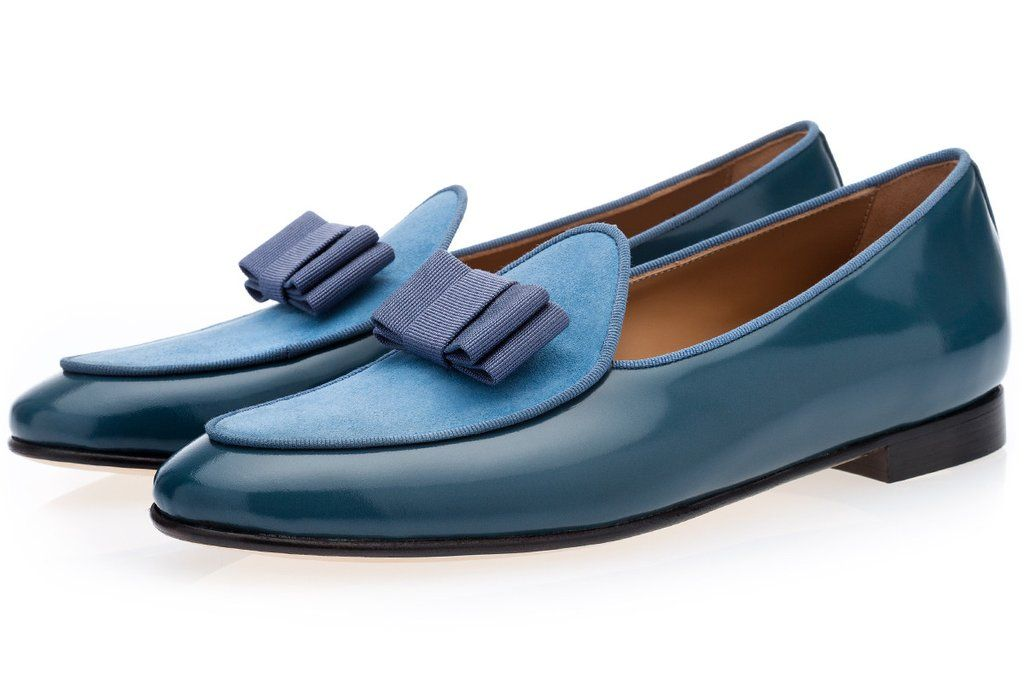 23212e9aa3e POLISHED LEATHER BELGIAN LOAFERS WITH SILK BOW