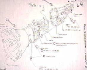 nissan manual transmission exploded view
