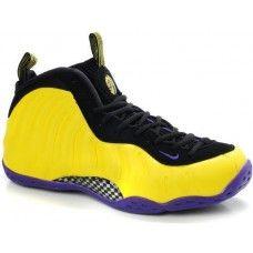 Nike Air Foamposite One yellow/black-purple basketball shoes