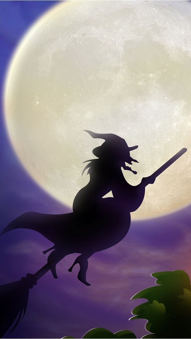 HALLOWEEN WITCH, IPHONE WALLPAPER BACKGROUND